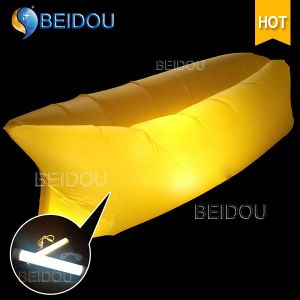 Wholesale DIY LED Single Mouth Style Air Inflatable Banana Sleeping Bags Air Bed Inflatable Sofa