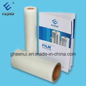 Super Stick BOPP Thermal Glossy Laminating Roll Film with Glue pictures & photos