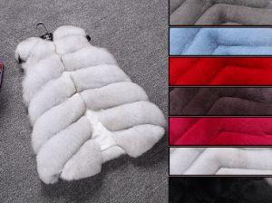 Christmas Warm Natural Silver Fox Fur Vest / pictures & photos