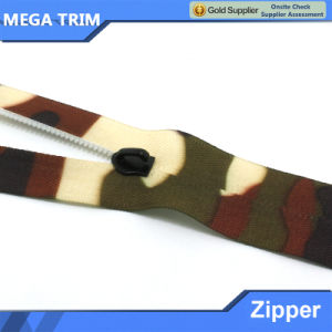 Camouflage Tape Nylon Zipper for Clothing pictures & photos