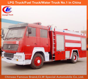 Heavy Duty Sinotruk HOWO 7000 Liters Water Foam Fire Fighting Trucks pictures & photos