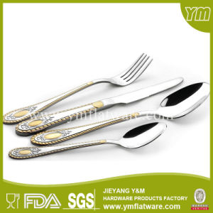 Used Restaurant Flatware Gold Plated Stainless Steel Bulk Cutlery