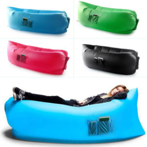 2016 New Style Fast Inflatable Hangout Air Sleep Camping Bed Beach Sofa Lounge Lamzac Hangout Down Fill Sleeping Bag, Camping Sleep Air Bag
