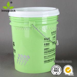 Colored 5 Gallon Food Grade Plastic Paint Pail with Lid pictures & photos