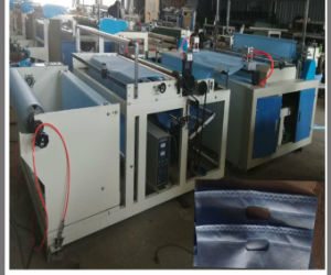 Non Woven Fabric Embossing Inline Cutting Machine for Bags (DC-HW1200) pictures & photos