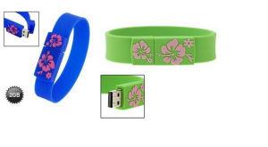 Vking Bracelet USB Flash Drive, 2GB / 4GB / 8GB / 16GB / 32GB /64GB Rubber Wristband USB Flash Drive, Color Wristband USB pictures & photos