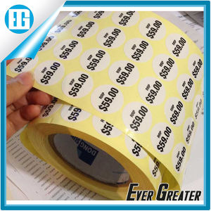Custom White Circular Waterproof Price Roll Label Printing pictures & photos