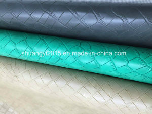High Quality Embossed Imitation Microfiber Leather for Shoes, Bags, Belt, Furniture pictures & photos