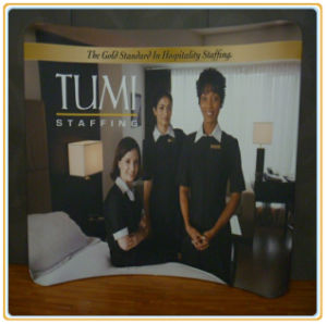 Retractable Banner Straight Curved Pop up Stand Manufacturer pictures & photos