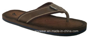 Men Comfort Leather Shoes Slippers (816-4840) pictures & photos