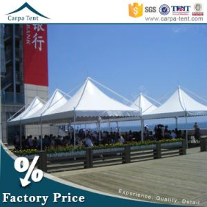 White PVC 6X6 Wedding Marquee Tent with Glass Wall and Pagoda at Side pictures & photos