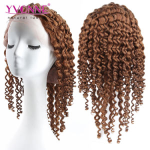 Color #4 Deep Wave Brazilian Human Hair Full Lace Wig pictures & photos