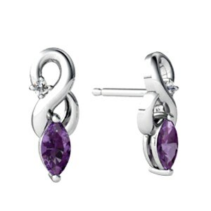 Stainless Steel Amethyst Earring Studs pictures & photos