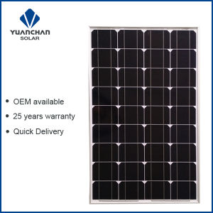 Yuanchan 100W Mono Solar Panel From China Manufacturer with Low Price and High Quality pictures & photos