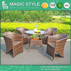 Rattan Dining Set Outdoor Wicker Dining Chair Garden Dining Set (Magic Style) pictures & photos