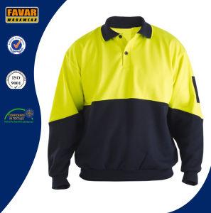 Men′s Winter Long Sleeve Hi Vis Polo Work Shirt