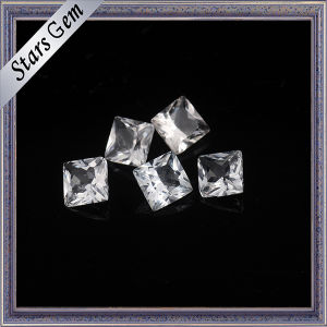 Square Princess Cut Shining Natural White Topaz for Jewelry pictures & photos