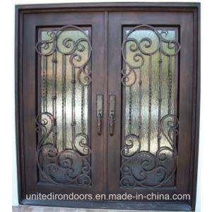 China Factory Direct Flat Top Front Iron Door (UID-D043) pictures & photos