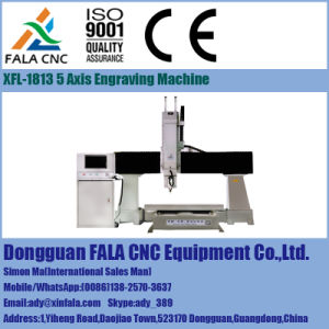 Xfl-1813 5 Axis CNC Router for EPS Wood Styrofoam Metal Mould