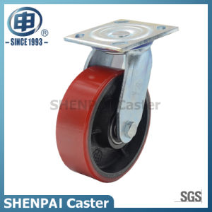 "6"" Iron-Core PU Rigid Industrial Caster Wheel pictures & photos"