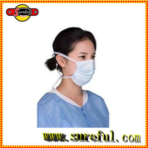 3 Ply PP Non Woven Disposable Face Mask with Latex Free Round Earloop for Medical or Surgical Use pictures & photos
