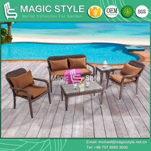 Stackable Rattan Chair Patio Wicker 2-Seater Garden Combination Sofa Set (Magic Style) pictures & photos