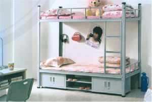 Iron Metal Bunk Bed with Cabinets