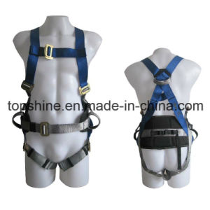 Industrial Adjustable Polyester Professional Standard Full-Body Harness Safety Belt pictures & photos