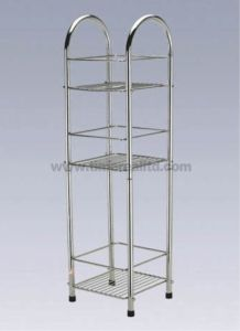 Chrome Wire Metal Kitchen Storage Rack Sr-C004 pictures & photos