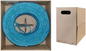 UTP CAT6 Ethernet LAN Cable 305m Fluke-Tested 10/100/1000 Base Blue pictures & photos