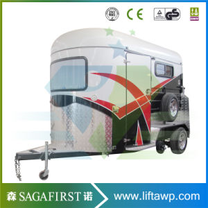 2 Horse Angle Float Trailer Horse Trailer Horse Float pictures & photos