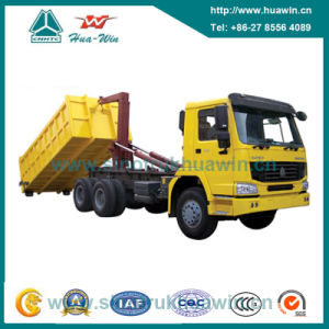 Sinotruk HOWO 371HP 6X4 Hook Lift Garbage Truck pictures & photos