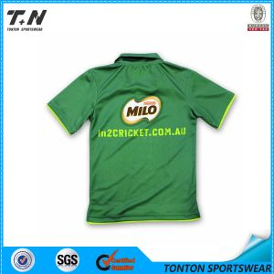 Custom Sublimation Print Polo Shirt Cheap Sublimated Cricket Jersey pictures & photos