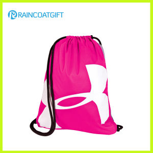 Promotional Pink Polyester Drawstring Bag pictures & photos