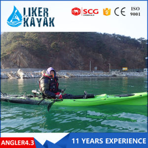 LLDPE/HDPE Single Cheap Fishing Kayaks 4.3m Length pictures & photos