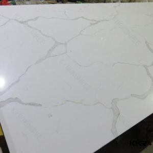 Carrara White Engineered Artificial Quartz Stone pictures & photos
