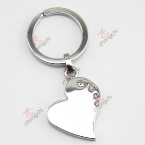 Zinc Alloy Metal Key Chain with Crystal (KC)