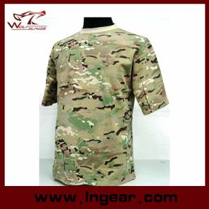 Military Tactical Fashion Camouflage Short Sleeve T-Shirt pictures & photos