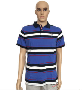 Mens Formal Yard Dyed Stripe Men Polo Shirt pictures & photos