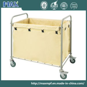 Stainless Steel Hotel Cleaning Service Laundry Linen Maid Trolley pictures & photos