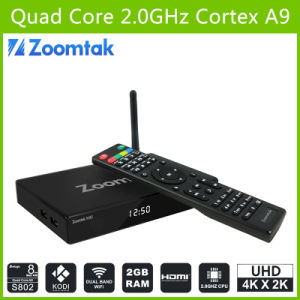 Wholesale Smart TV Box Support 3D4k Video Player Zoomtak M8 pictures & photos