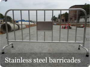 Stainless Steel Crowd Control Steel Barricades pictures & photos