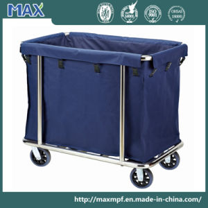 Stainless Steel Cleaning Service Laundry Linen Maid Trolley Hotel Housekeeping pictures & photos