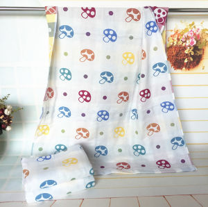 3 Layers100% Cotton Mushroom Towel for Baby with 70X140cm pictures & photos