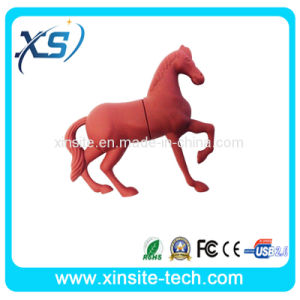 Red Color PVC Horse USB Flash Drive (XST-U075)
