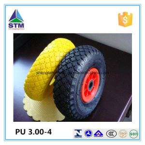 Customized Durable Plastic Rim PU Wheels pictures & photos