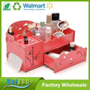 Wholesale DIY Designer Wooden Cosmetic Organizer Jewelry Box with Drawers pictures & photos