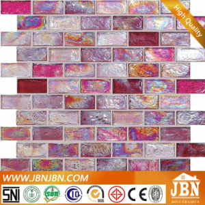 Glass Mosaic Pink Color for Bathroom Wall (L824001) pictures & photos