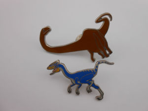 Custom Lapel Pins, Dinosaur Shape Badge (GZHY-LP-011) pictures & photos