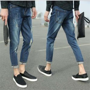 Korean Male Adolescents Wholesale Fashion Pantyhose Hole Jeans pictures & photos